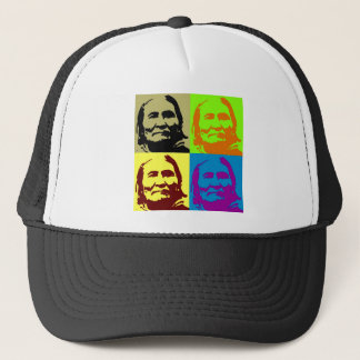 Pop Art Freedom Fighter Geronimo Trucker Hat