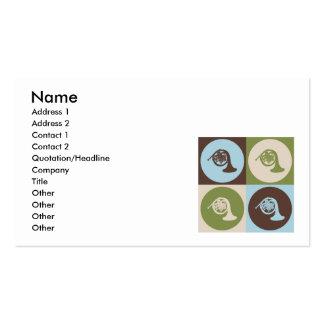 Pop Art French Horn Business Card Template