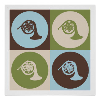 Pop Art French Horn Posters