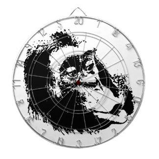 Pop Art Funny Chimpanzee Dartboard With Darts