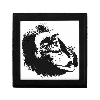 Pop Art Funny Chimpanzee Trinket Boxes
