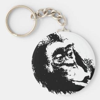 Pop Art Funny Chimpanzee Keychain