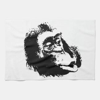 Pop Art Funny Chimpanzee Towel