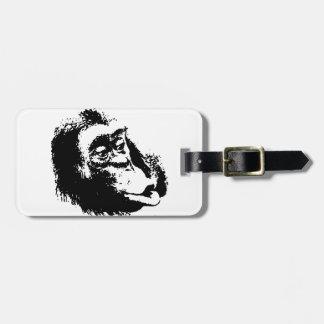 Pop Art Funny Chimpanzee Luggage Tag