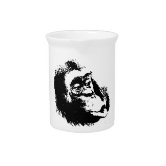 Pop Art Funny Chimpanzee Pitcher