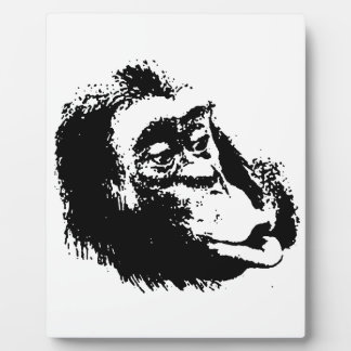 Pop Art Funny Chimpanzee Plaque
