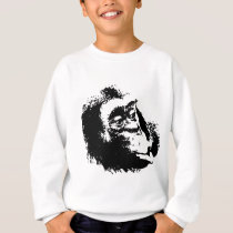 Pop Art Funny Chimpanzee Sweatshirt