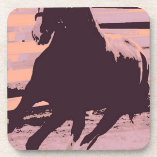 Pop Art Galloping Horse Drink Coaster