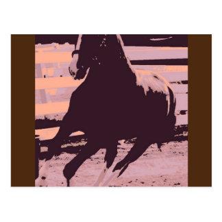 Pop Art Galloping Horse Postcard