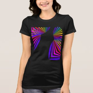 Pop Art Geometric CricketDiane Rainbow Colorful T-Shirt