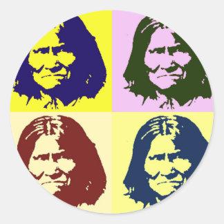 Pop Art Geronimo Classic Round Sticker