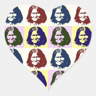 Pop Art Geronimo Heart Sticker