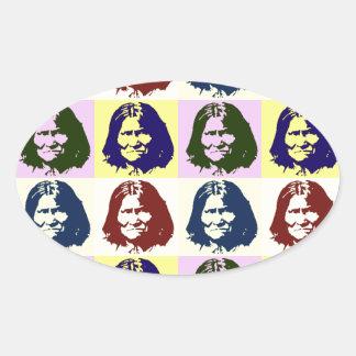 Pop Art Geronimo Oval Sticker