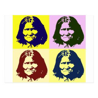 Pop Art Geronimo Postcard