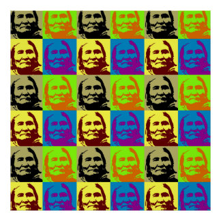 Pop Art Geronimo Poster - Freedom & Peace Symbol