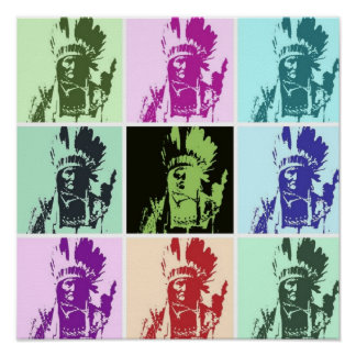 Pop Art Geronimo Poster - Freedom Warrior Indian