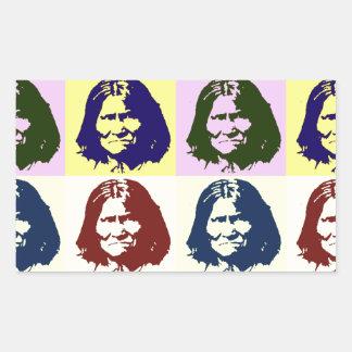 Pop Art Geronimo Rectangular Sticker