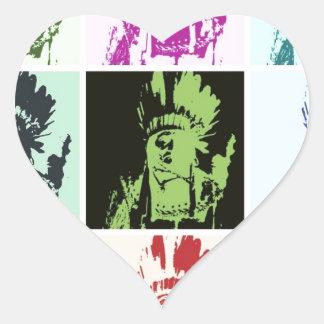 Pop Art Geronimo Heart Stickers