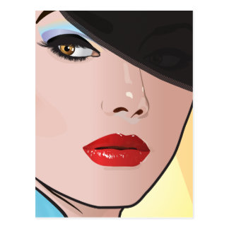 Pop Art Girl - Heather Postcard