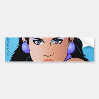 Pop Art Girl - Pretty Paulina Car Bumper Sticker