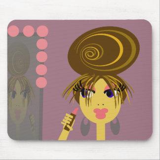 Pop Art Girl Putting on Makeup Mousepad