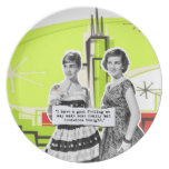 Pop Art Girls with Bad Decisions Plates
