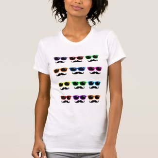 PoP Art Glasses and Moustaches Shirt