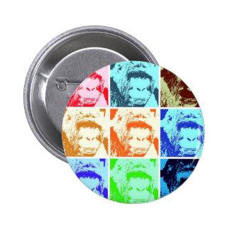 Pop Art Gorilla 2 Inch Round Button