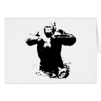 Pop Art Gorilla Beating Chest Greeting Card
