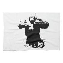 Pop Art Gorilla Beating Chest Kitchen Towels