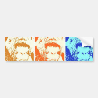 Pop Art Gorilla Bumper Sticker