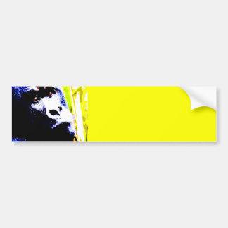 Pop Art Gorilla Car Bumper Sticker