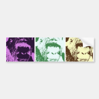 Pop Art Gorilla Faces Bumper Stickers