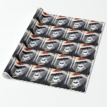 Pop Art Gorilla Faces Christmas Wrapping Paper