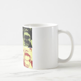 Pop Art Gorilla Faces Coffee Mug