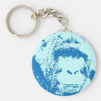 Pop Art Gorilla Faces Keychain