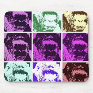 Pop Art Gorilla Faces Mouse Pad