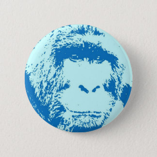 Pop Art Gorilla Faces Pinback Button