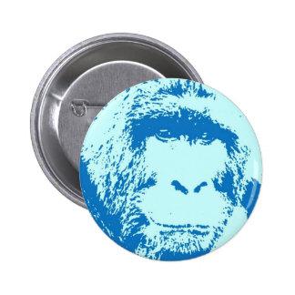 Pop Art Gorilla Faces Pinback Button