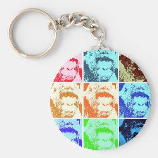 Pop Art Gorilla Keychain