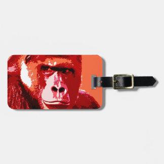 Pop Art Gorilla Bag Tags