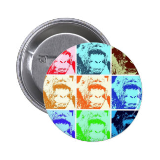 Pop Art Gorilla Pinback Button