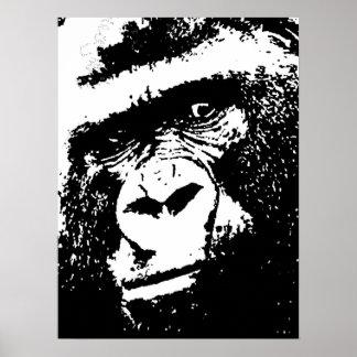Pop Art Gorilla Portrait Poster