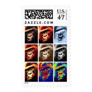 Pop Art Gorilla Postage
