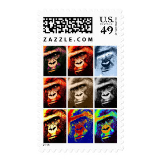 Pop Art Gorilla Stamps