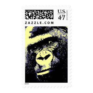 Pop Art Gorilla Postage Stamps