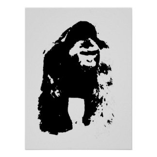 Pop Art Gorilla Poster
