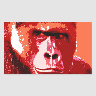 Pop Art Gorilla Rectangular Sticker