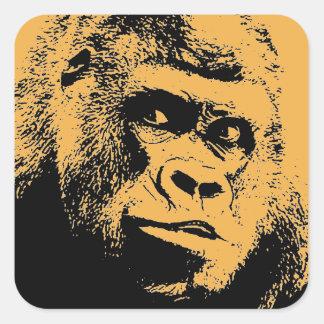 Pop Art Gorilla Square Sticker