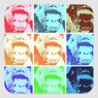 Pop Art Gorilla Square Sticker